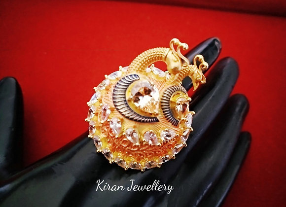 Peacock Faced Stylish Ring
