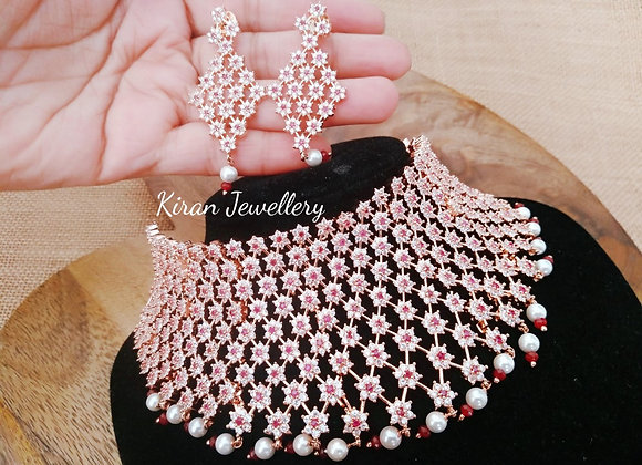 Ruby  AD Choker Necklace