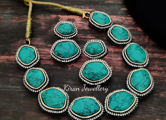 Firozi Stone Necklace
