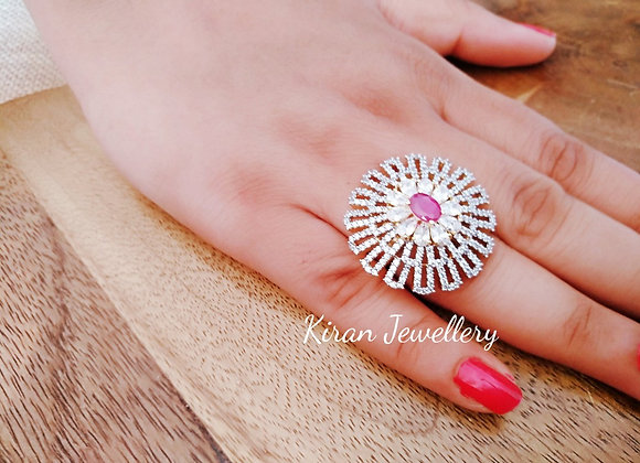 Ruby Stone Cocktail Ring