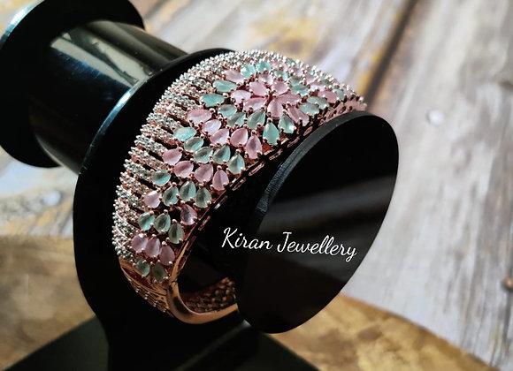 Pink-Mint Stone AD Bracelet
