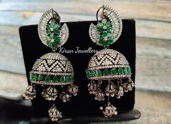 Green Stone Stylish Jhumki