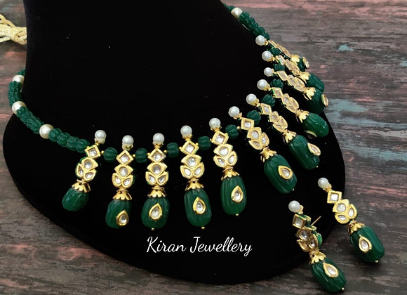Green Elegant Kundan Necklace