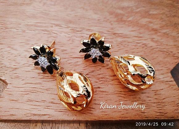 Black and Golden Trendy Earrings