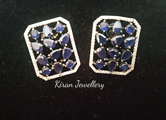 Blue Color Elegant Earrings