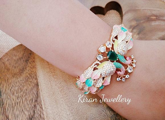 Multicolor Peacock Bracelet