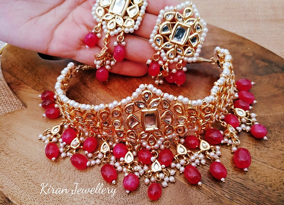 Kundan Choker with Ruby Drops