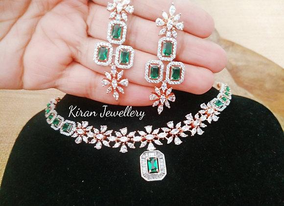 Green Stone Elegant Necklace