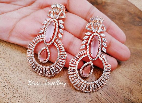 Pink Stone Elegant and Stylish Earrings