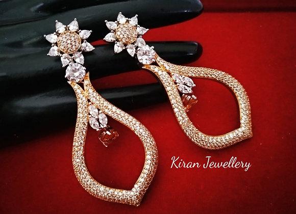 Rosegold Polish Elegant Earrings