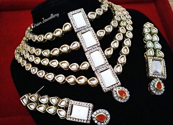 Multilayer Kundan Necklace Set