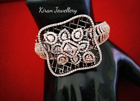 Black Polish Stylish AD Bracelet
