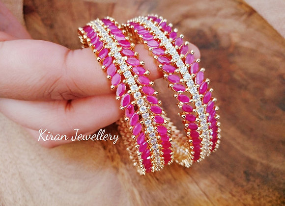 Ruby Color Bangles