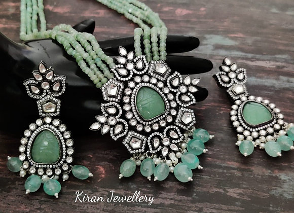 Mint Mala Kundan Necklace