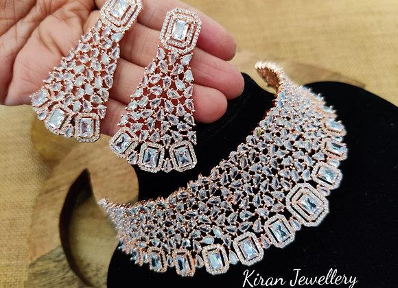 Rose gold Choker Necklace