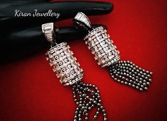 Black Polish Elegant Earrings