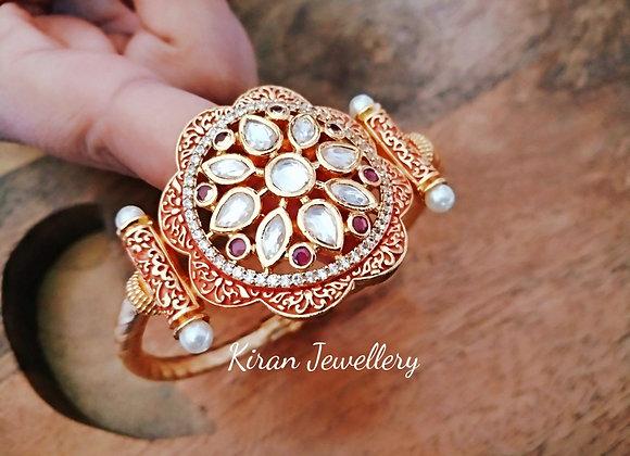 Ruby Meena Kundan Bracelet