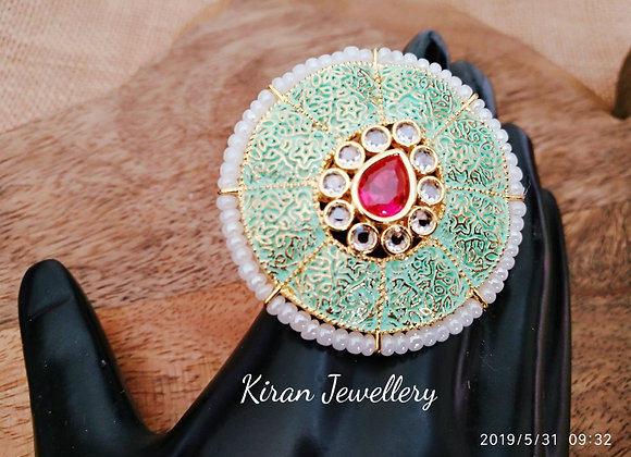 Green and Ruby Cocktail Ring