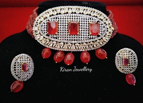 Ruby Color Elegant Choker