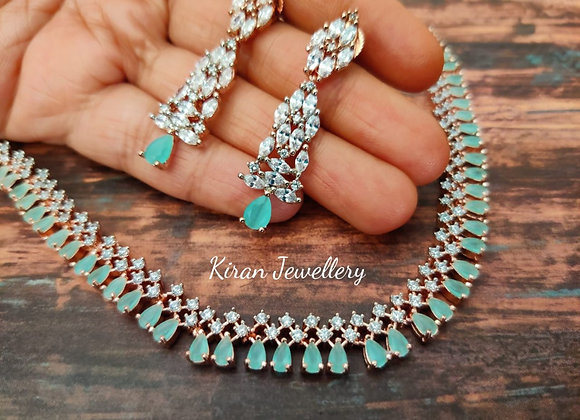 Mint Stone AD Necklace