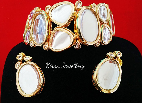 Big Stone Kundan Necklace