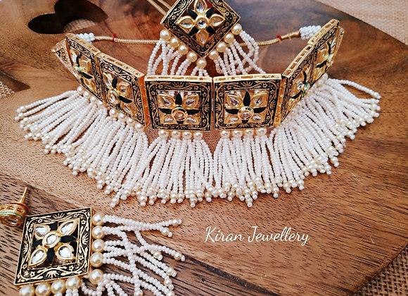 Pearl Elegant Kundan Choker Set