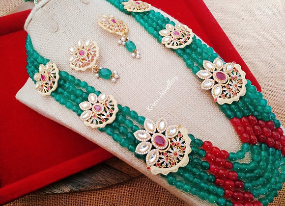 Green Mala Elegant Necklace