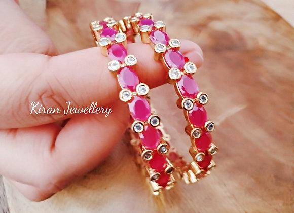 Ruby color Elegant Bangles
