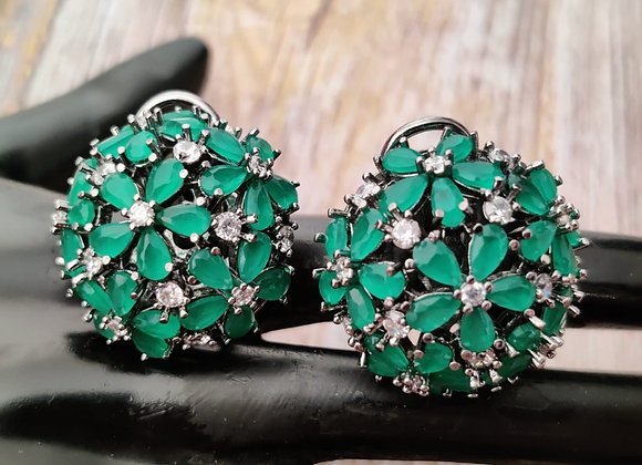 Green Stone Studs