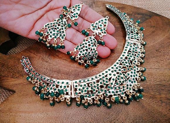 Jadau Green Necklace