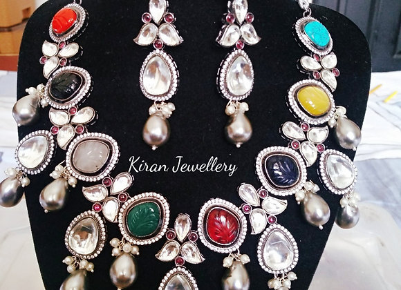 Navratan Necklace Set