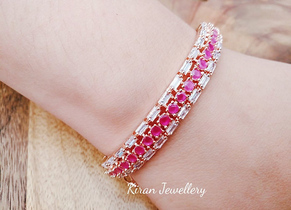 Sleek Ruby Bracelet