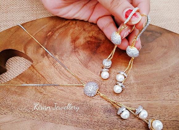 Elegant Indo Western Chain Pendant Set
