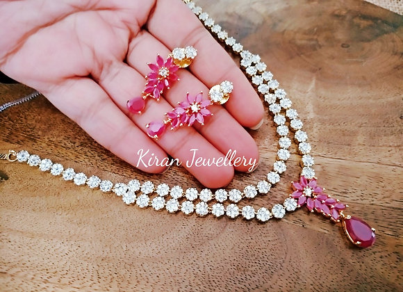 Ruby Stone Elegant Necklace