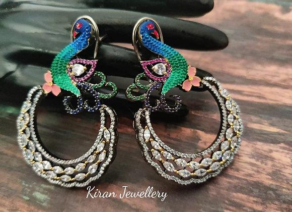 Peacock Elegant Earrings