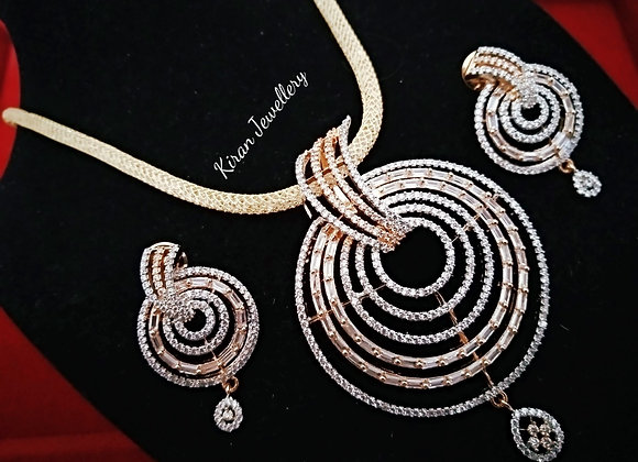 Diamond Look Pendant Set