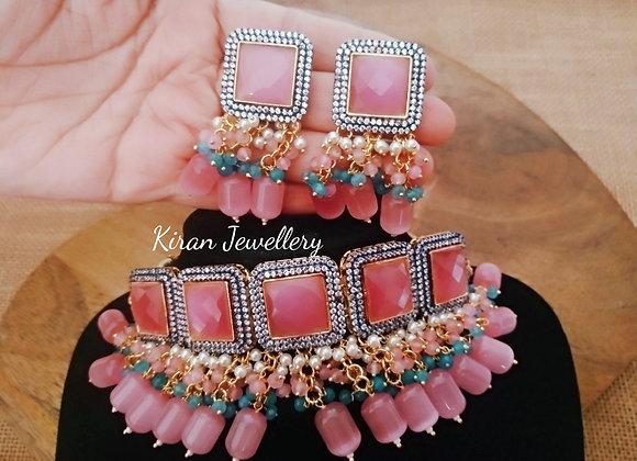 Pink Stone Stylish Choker