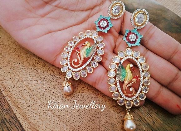 Bird Earrings In Lovely Colors