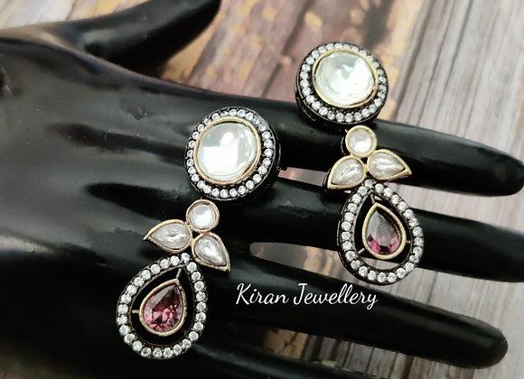 Elegant Kundan Earrings