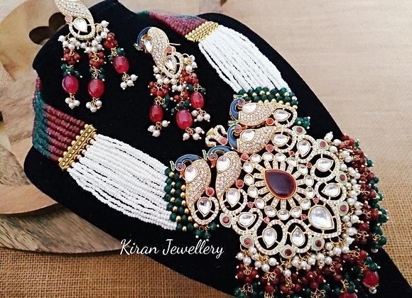 Peacock Royal Look Mala Set