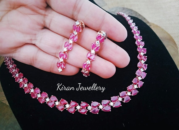 Elegant Ruby Necklace