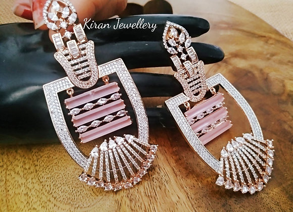RoseGold Pink Earrings