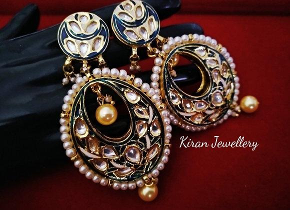 Stylish Meenakari Kundan Earrings