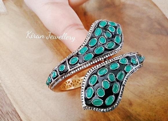 Oxidized Green Bracelet
