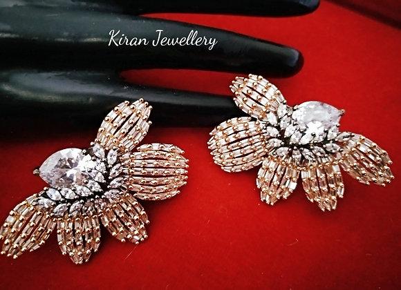 Stylish Diamond Look Earrings