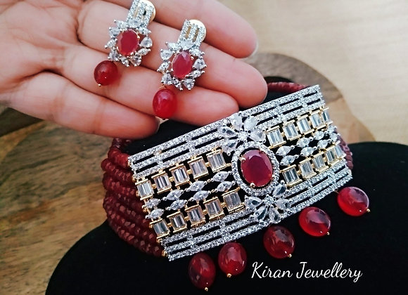 Ruby Color Stylish Choker Set