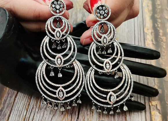 Black Rose Polish Stylish Earrings