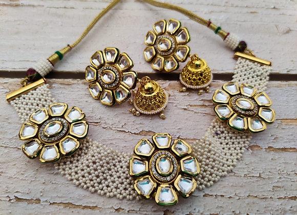 Pearl Kundan Choker Necklace