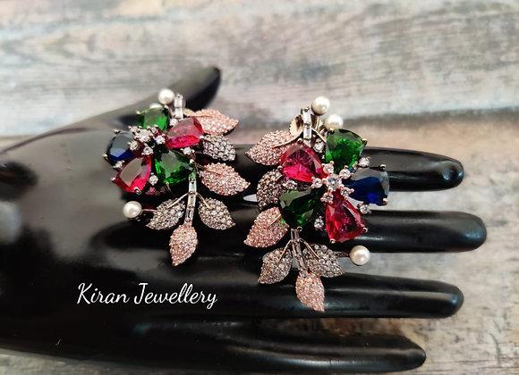 MultiColor Stone Stylish Earrings