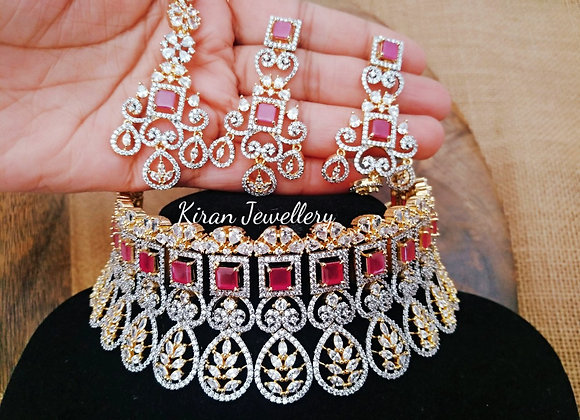 Bridal Ruby Choker  Necklace